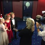 Students at a film premiere being interviewed by UTV